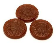 Salmiak Coins Brown + Chewy Licorice  0.37 Lb