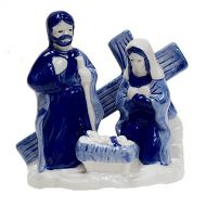 Nativity Scene Delft Style Small