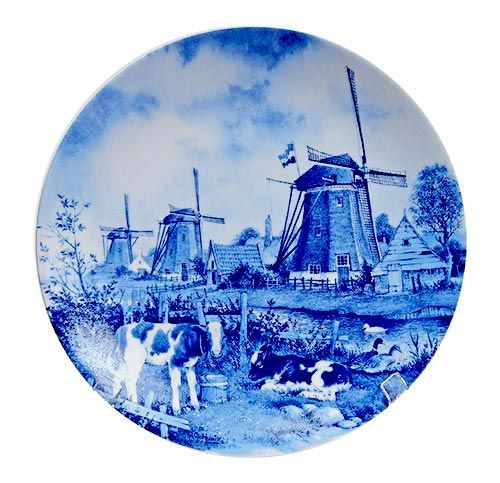 PLATE BLUE 9 INCH MILL & COWS