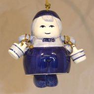 Xmas Ornament Delft Milkman 3.5x2.25inch