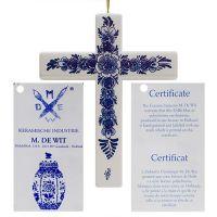 Delft Blue Cross Handpainted