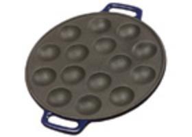 Poffertjes Pan Cast Iron with Smooth Enamel Bottom