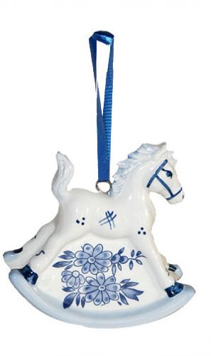 Xmas Ornament Rocking Horse 3inches tall