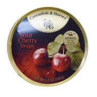Cavendish & Harvey Tin Sour Cherry Candy 5.3 oz