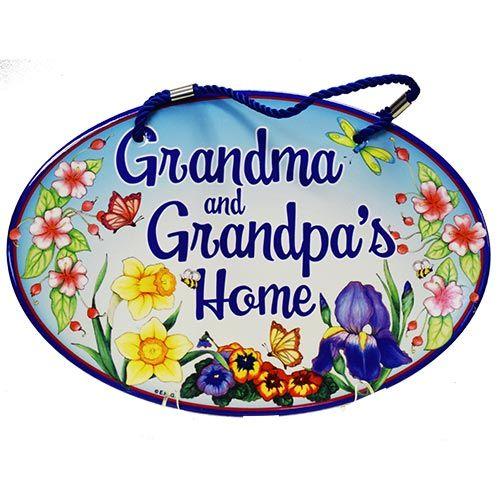 Door Sign Grandma & Grandpa's Home