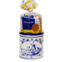Tin with 8 Margarine Stroopwafels